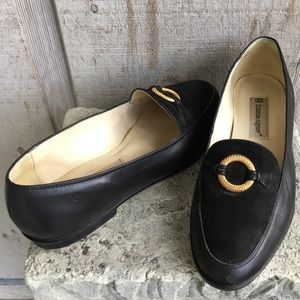 Etienne Aigner Leather Margaret Loafers